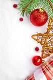 Christmas card.Christmas decoration. Christmas background. Christmas card.Christmas decoration.Holiday background with space for text.Christmas tree branches Royalty Free Stock Photos