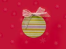 Christmas card. Christmas Decoration with snow.  Royalty Free Stock Photos