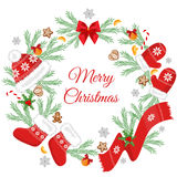 Christmas card with Christmas decorations. Stock Images