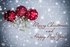 Christmas card with christmas decorations. Vintage; plug-in Royalty Free Stock Photo