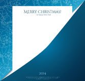 Christmas card with christmas icon on paper. Stock Photo