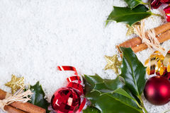 Christmas card with christmas items Stock Photos