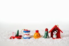 Christmas card with Christmas toys Royalty Free Stock Photography