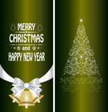 Christmas card with a Christmas tree Stock Photo