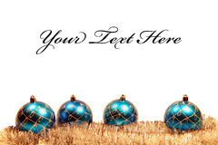 Christmas card with christmas-tree decorations Stock Photography