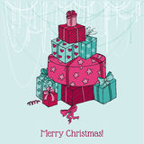 Christmas Card - Christmas Tree Royalty Free Stock Image