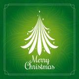 Christmas card with Christmas tree royalty free illustration