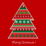 Christmas card with Christmas tree Stock Photos