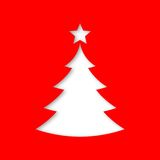 Christmas card with Christmas tree. Vector icon vector illustration