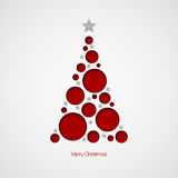 Christmas card with Christmas tree. Vector Stock Photos