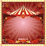 Christmas card circus Stock Image