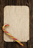 Christmas card. Christmas closeup on wooden background stock images