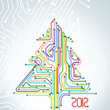 Christmas card of colorful metro scheme Royalty Free Stock Photos