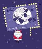 Christmas Card. Comic Santa Royalty Free Stock Photo