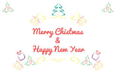 Christmas card concept by Have many color and white background Royalty Free Stock Images