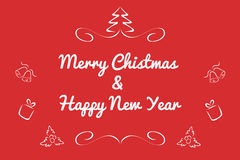 Christmas card concept by Have many color and white background Stock Image