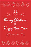 Christmas card concept by Have red and white color Royalty Free Stock Photography