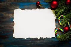 Christmas card for congratulation Stock Photos