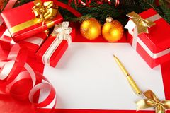 Christmas card of congratulations Stock Images
