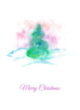Christmas card with conifer Royalty Free Stock Image