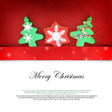 Christmas card with cookies stock images