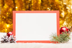 Christmas card with copy space Royalty Free Stock Image