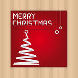 Christmas card with corrugated cardboard picture frame Royalty Free Stock Images