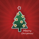 Christmas Card or Cover Template Design  Stock Photo