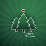 Christmas Card or Cover Template Design with Merry Christmas Label Stock Image