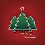 Christmas Card or Cover Template Design with Merry Christmas Label Royalty Free Stock Photography