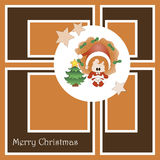 Christmas card with cute little girl Stock Image