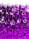Christmas card, cute misaic dot in purple. EPS 8 Royalty Free Stock Images