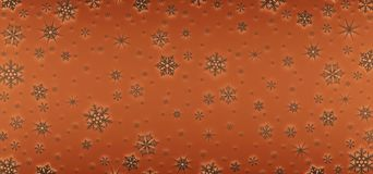 Christmas card decorated with white snowflakes. Pattern for Christmas greetings royalty free stock photography
