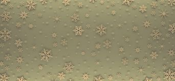 Christmas card decorated with white snowflakes. Pattern for Christmas greetings stock photo