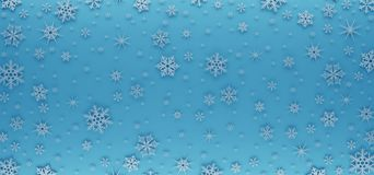 Christmas Card Decorated With White Snowflakes. Pattern For Christmas Greetings. Royalty Free Stock Photos