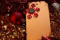 Christmas card and decoration. Handmade christmas card and decoration Royalty Free Stock Photos
