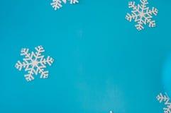 Christmas card with  decoration. Christmas card with christmas decoration on blue background Royalty Free Stock Photos