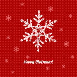 Christmas card with decoration Royalty Free Stock Photo