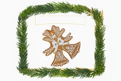 Christmas card with decoration . Stock Images