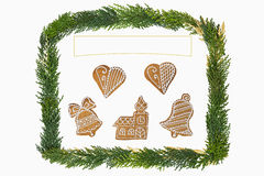 Christmas card with decoration . Royalty Free Stock Photo