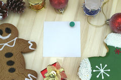 Christmas card with decoration. Set Stock Images