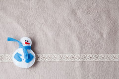 Christmas  card decoration with snowman Royalty Free Stock Photo