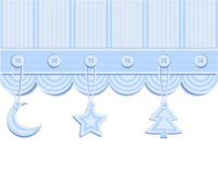 Christmas card with decorations Royalty Free Stock Photography