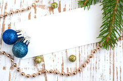 Christmas card with decorations Royalty Free Stock Photos