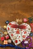 Christmas card. Decorations for the presents. Preparing for Christmas Eve Stock Image