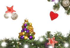 Christmas card, decorations Stock Images