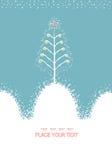 Christmas card with decorative Christmas tree.Vect Stock Image