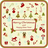 Christmas card with decorative elements. Vector illustration Royalty Free Stock Image
