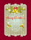 Christmas  card with decorative ornament Royalty Free Stock Photo