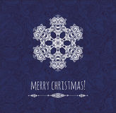 Christmas card with decorative snowflake. Template design. Stock Photography